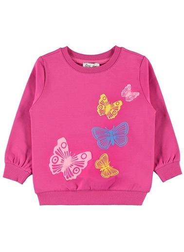 Civil Girls Sweatshirt Fuşya